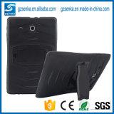 Samsung T110の例のためのケースPC+SiliconeのタブレットのKickstand卸し売り堅い背部カバー