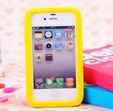 Les silicones mous de plus grand d'image de mode du dessin animé 3D de bébé canard mignon de jaune reculent la couverture de cas pour l'iPhone et pour Samsung