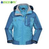 十分に継ぎ目を録音することを用いる1枚の屋外のジャケットに付き女性のPongee/PU通気性の3枚