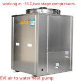 120-150 -35程度およびOutlettで働くスクエア家の暖房のための18kw 90度のEviのヒートポンプ