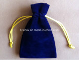 Jy-Vp02黒いビロードの宝石類のギフトのドローストリングの袋