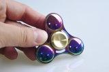 Mini hilandero del dedo de la mano de la persona agitada del juguete de la aleación colorida brillante