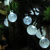 Lumière de Noël LED 5m Water Drop 20 LED Outdoor Solar String Light