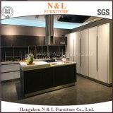 N & L 2017 móveis de cozinha de laca de vidro de bancada deslizante
