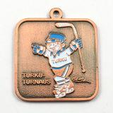 Médaille personnalisée de souvenir du modèle 3D avec la bande