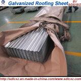 Placa de aço galvanizada/folha de aço galvanizada da telhadura em 0.14mm