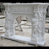 Marmeren Open haard mfp-432 van Carrara van de Open haard van het Graniet van de Steen Witte