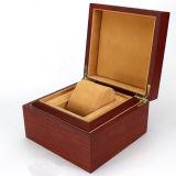 Коробка подарка деревянного вахты упаковывая с подушкой