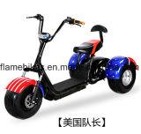 3 de Elektrische Scooter van wielen met Dubbele Zetels