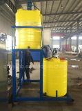 Edelstahl-Chemikalie, die Becken mit der Dosierung der Pumpe dosiert