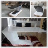 現代執行部のカウンター表イタリアデザイン専務理事立つ白い大理石の机のオフィス用家具表デザイン