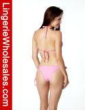 Ladies sexy Pink Swimwear Pretty in Heart Pattern Bikini Top