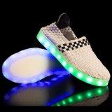 El modelo caliente Sels663 LED del cargador del programa inicial de Yeezy de la venta 2017 luminoso enciende para arriba los zapatos para los adultos
