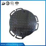 OEM En124は金属の排水カバーのための鉄のマンホールカバーを砂型で作る