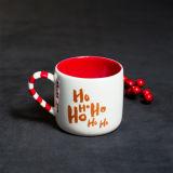 Caneca cerâmica vermelha de Xms