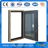 Gewölbtes Spitzenaluminiumflügelfenster-Fenster