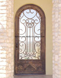 家のカスタム鉄の緩和されたガラスが付いている単一の外部ドア
