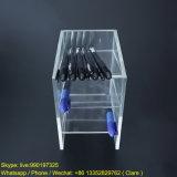3 sostenedores de acrílico claros plásticos de la pluma de las gradas