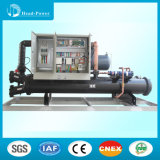 refrigeratore di acqua raffreddato ad acqua della vite di 120ton R134A