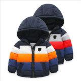 아이들 의복을%s 줄무늬 대조 색깔 소년 재킷