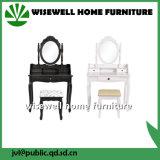 Mesa de limpeza de vaidade negra com espelho (W-LZ-134)