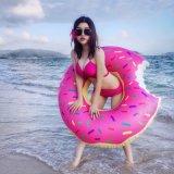 Galleggiante rotondo dell'anello di Swimmingng della ciambella gigantesca gonfiabile di estate