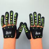 Hppe/нитрил Sandy перчаток безопасности стеклянного волокна, шить Sponge& TPR