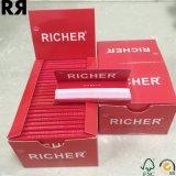 Un papier de roulement normal plus riche de tabac de cigarette de gomme d'OEM 18GSM
