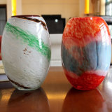 Murano Hand Blown Glass Vase pour Home Decoration