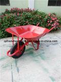 Carrinho de mão de roda Wb6201 da bandeja do aço inoxidável de boa qualidade