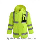 Revestimento reflexivo da chuva da segurança com o certificado ANSI107 (C2443)