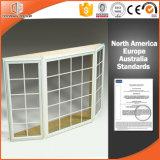 Bahía de la rotura termal revestida de madera sólida de la talla y ventana de arqueamiento de aluminio modificadas para requisitos particulares