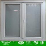 Ventana de aluminio del marco de la rotura termal con el vidrio doble