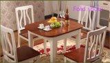 拡張可能な現代純木の家具のダイニングテーブルおよび椅子