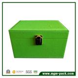 Caixa de armazenamento de madeira personalizada relativa à promoção do projeto