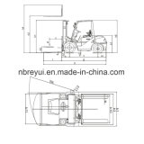 Gabelstapler des Diesel-2.5-3.5t/des Benzins