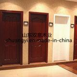Porte intérieure en bois solide chaude de modèle simple de vente