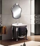 Mobília preta antiga clássica GB1012 da laca do espelho de mármore