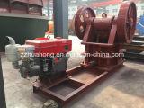 One Model 1125年のDieselのPE250*400 White Color Diesel Jaw Crusher Engine