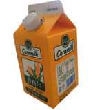 450ml Milk/Juice/Cream/Wine/Yoghurt/Water Gable Top Carton met Caps