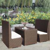 Populäre im Freien Weiden-PET Rattan-Möbel mit 2chairs und 1 Tisch für Hotel und Wohnung
