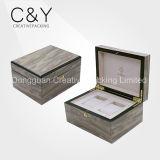 Cadre de montre en bois fait sur commande de boîte d'emballage de montre de couples de cadres