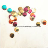 青いサファイアの釘の芸術の金属の宝石の円形の熱い苦境Nailhead (HF nailhead/3mm)