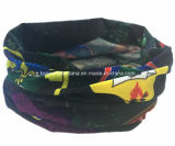 China-Lieferanten-Erzeugnis passte Firmenzeichen gedruckten Polyester-Sport-Ski-Multifunktionsstutzen-röhrenförmigen lederfarbenen Schal an
