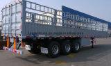 Трейлер 3-Axles тавра Китая планшетный с бортовым рельсом
