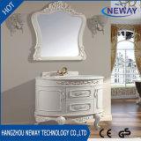 Шкаф ванной комнаты мебели твердой древесины высокого качества античный