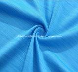 La manera Espacio-Teñió la tela hecha punto yoga de Lycra del poliester para la ropa de las mujeres