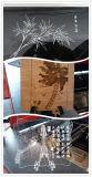Máquina de grabado de madera de acrílico de aluminio de acero del laser del CNC del vidrio R-1390