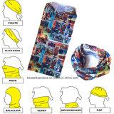 顧客用ポリエステルMicrofiberの伸縮性があるカスタマイズされたロゴは多機能のスポーツの淡黄色のバンダナのスカーフを印刷した