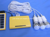 Sistema solar de três jogos da iluminação da bateria de lítio dos bulbos do diodo emissor de luz